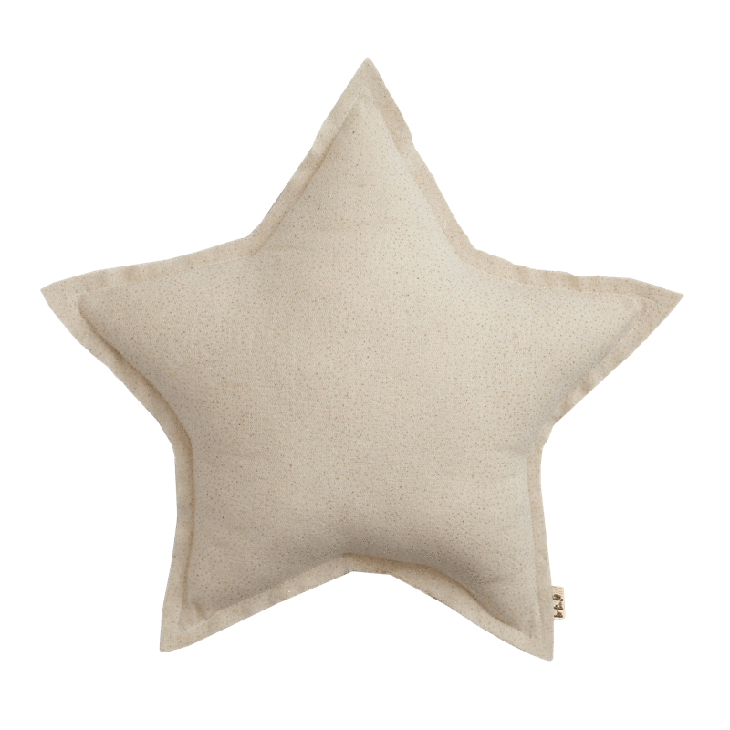 Numero74 sparkling tulle/cotton star cushion (natural)-cushion-numero74-mondocherry