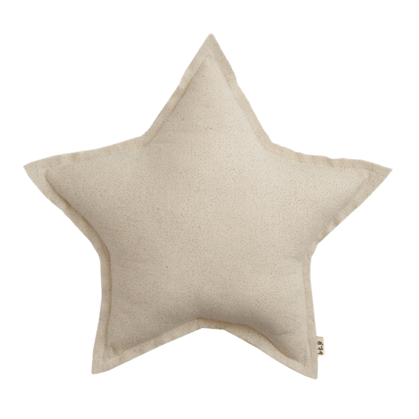 Numero74 sparkling tulle/cotton star cushion (natural) - cushion - mondocherry - home : style : design