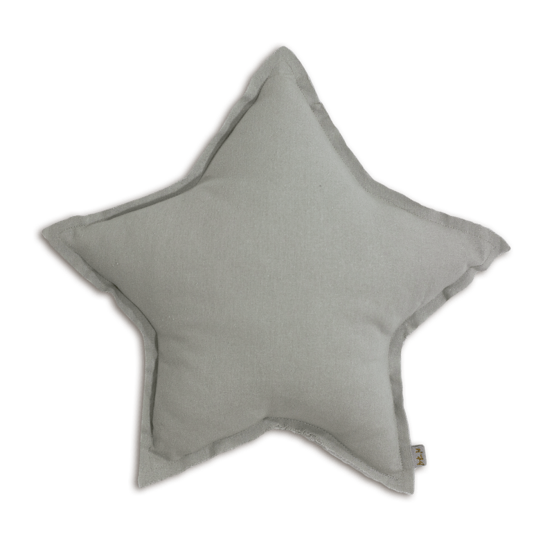 Numero74 star cushion thai cotton medium  (silver grey) - cushion - mondocherry - home : style : design