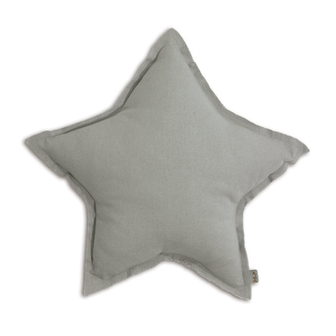 Numero74 star cushion thai cotton medium (silver grey)-cushion-numero74-mondocherry