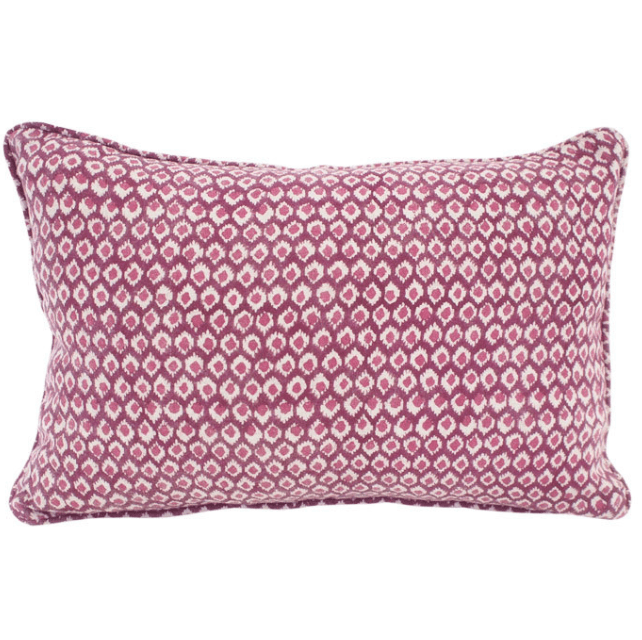 mondocherry homewares - Walter G Patola cushion (sangria)