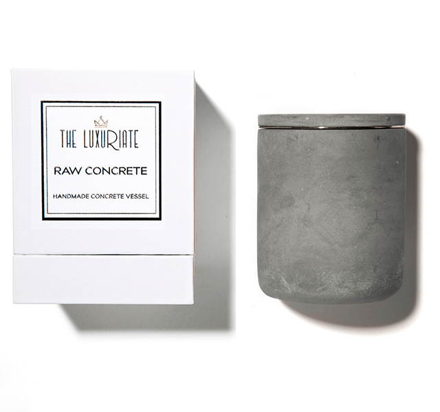 concrete luxuriate candle holder