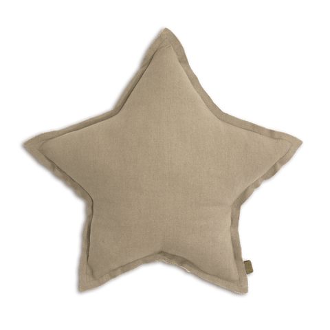 Numero74 star cushion thai cotton medium (beige)-cushion-numero74-mondocherry