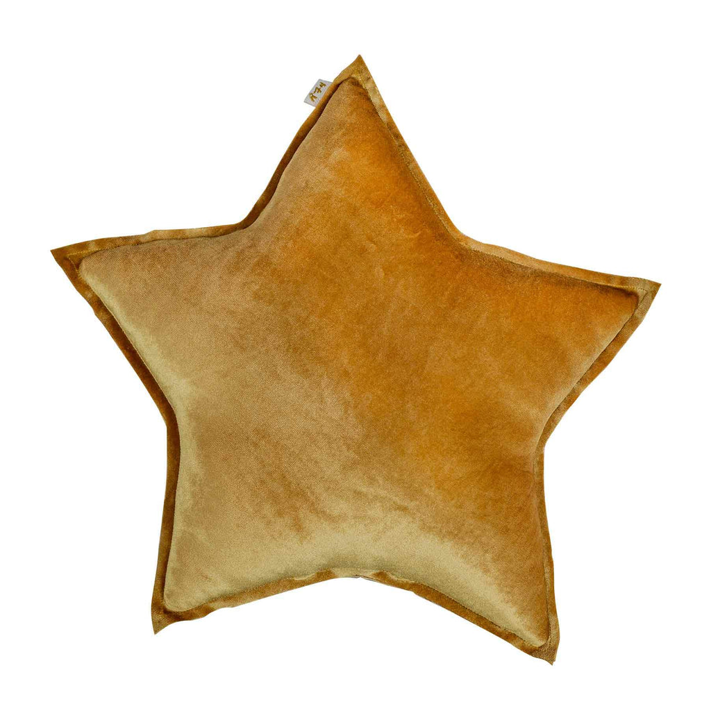 cushion - Numero74 | star cushion velvet | small | gold - mondocherry