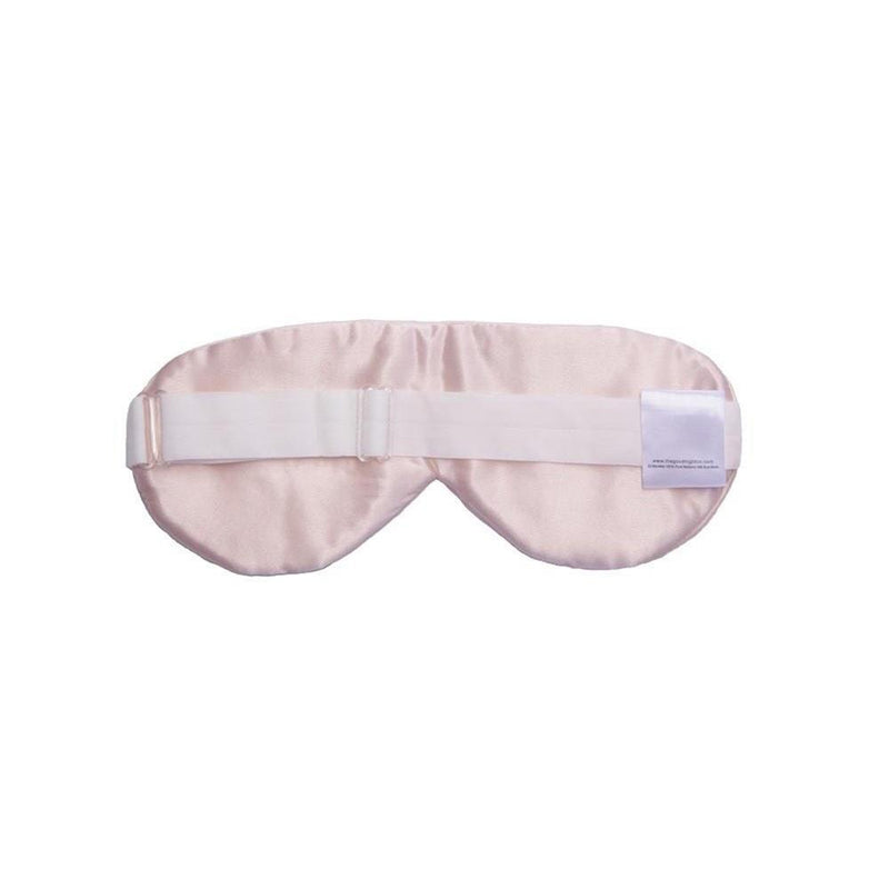 The Goodnight Co mulberry silk sleep mask - pink - back