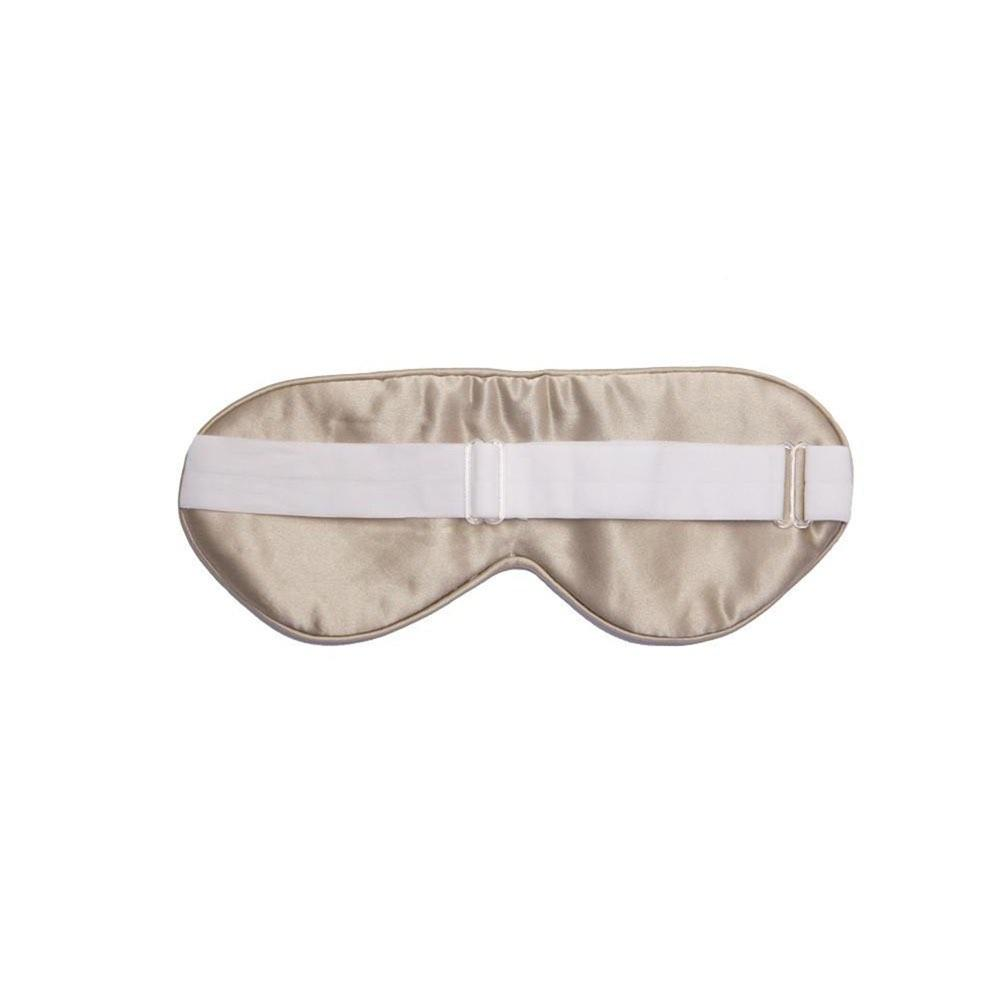 The Goodnight Co mulberry silk sleep mask - shimmering nude - back