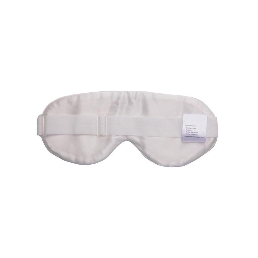 The Goodnight Co mulberry silk sleep mask - natural - back