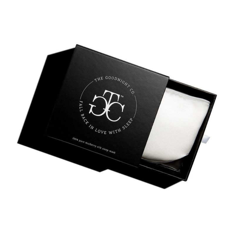 The Goodnight Co mulberry silk sleep mask - natural - box