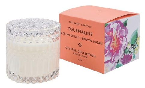 Mrs Darcy crystal collection candle (Tourmaline)-candle-Mrs Darcy-mondocherry