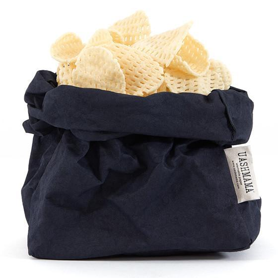 paper bag - Uashmama | paper bag | dark blue - mondocherry