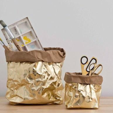bag - Uashmama | metallic bag | gold brown - mondocherry