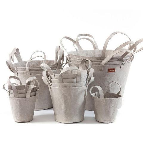 Paper Bucket Grey-paper bucket-uashmama-mondocherry