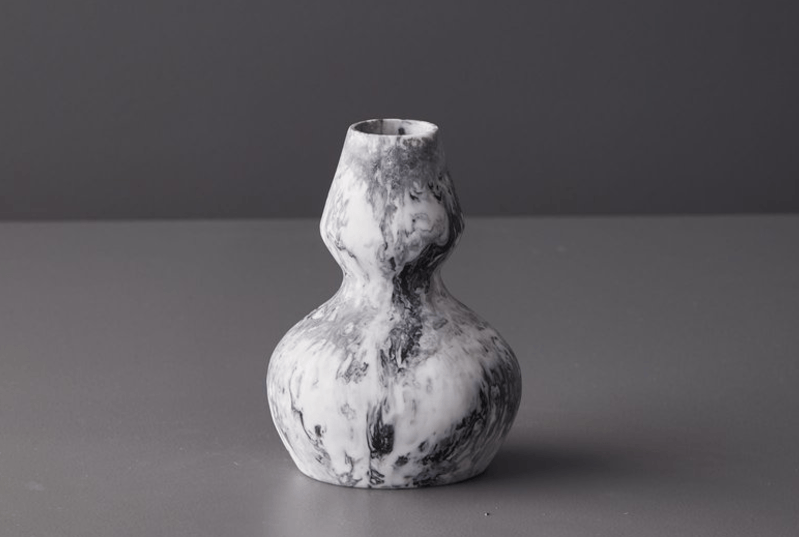 KeepResin Vase 01 (grey marble)-Vase-KeepResin-mondocherry