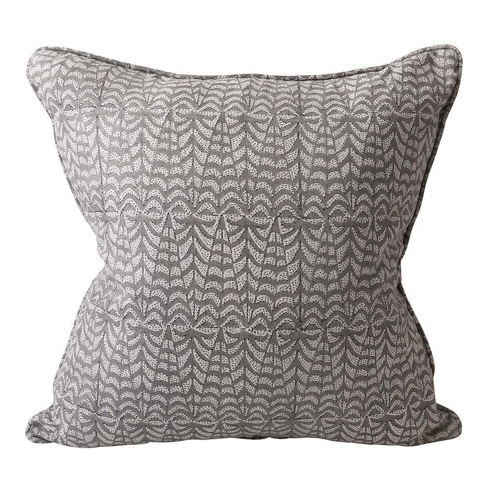 Walter G | panarea linen cushion | mud
