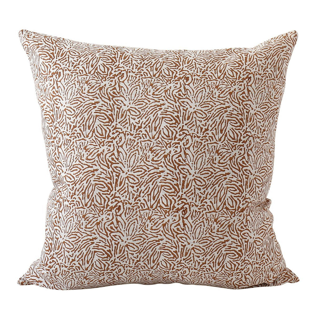 Walter G | amalfi linen cushion | rust