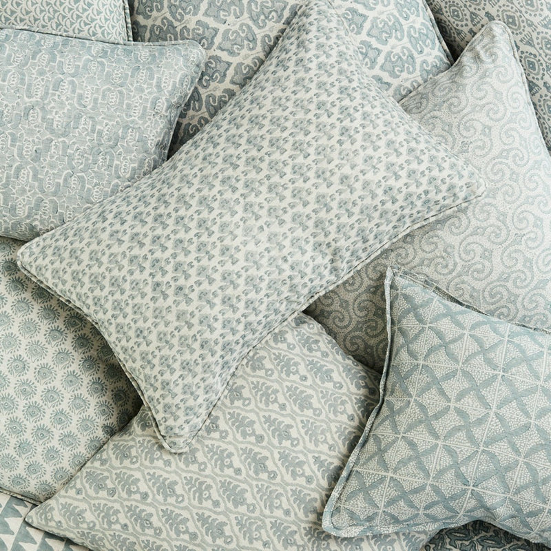 Walter G | cyprus linen cushion | celadon - stack