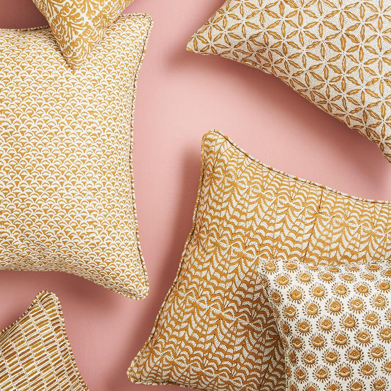 Walter G | panarea linen cushion | saffron - collection