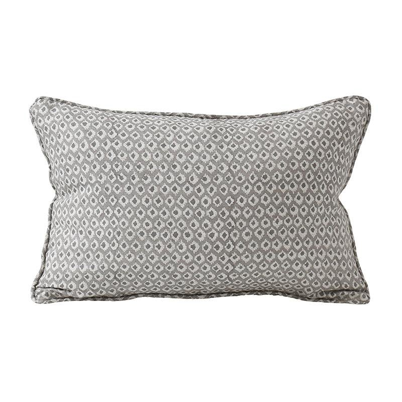 Walter G | patola linen cushion | mud