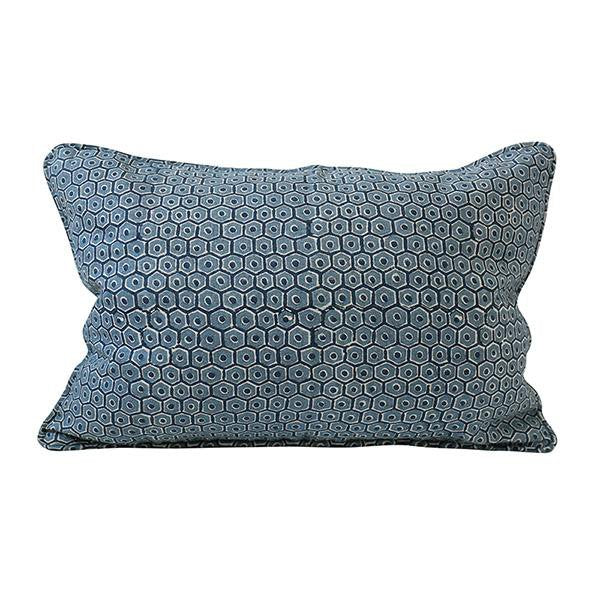 Walter G | rosetta linen cushion | denim