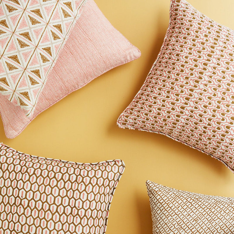 Walter G | saqqara linen cushion | guava - collection