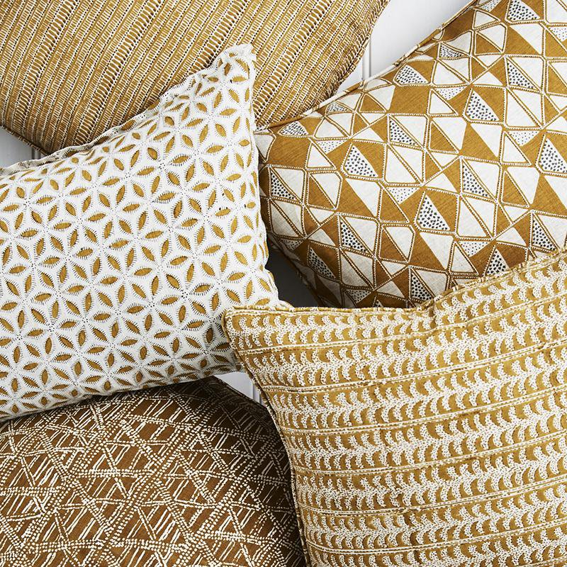 Walter G | saqqara linen cushion | saffron - collection