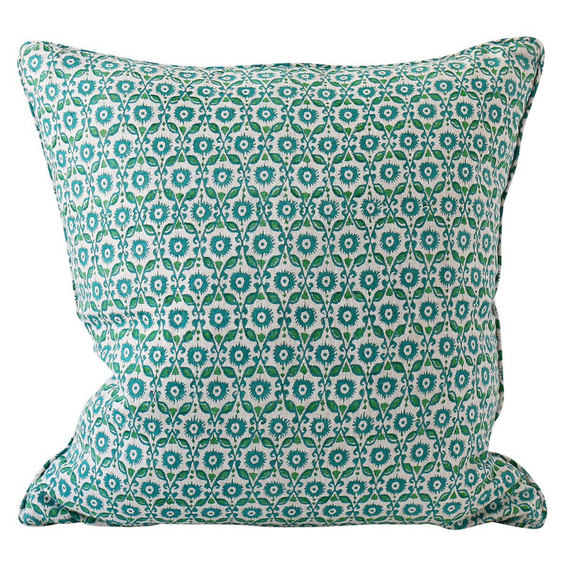 Walter G | suzani linen cushion | emerald