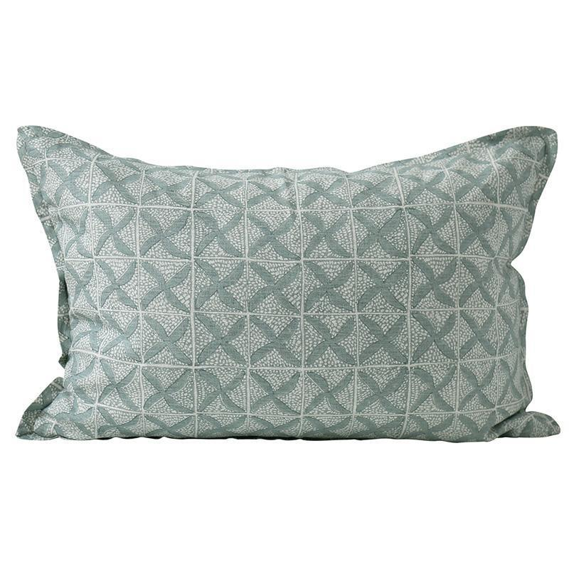 Walter G | ticking cushion | indian teal