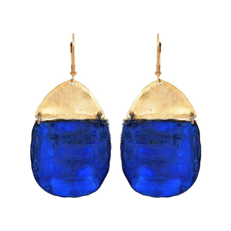 We Dream in Colour | nv inika earrings | gold blue
