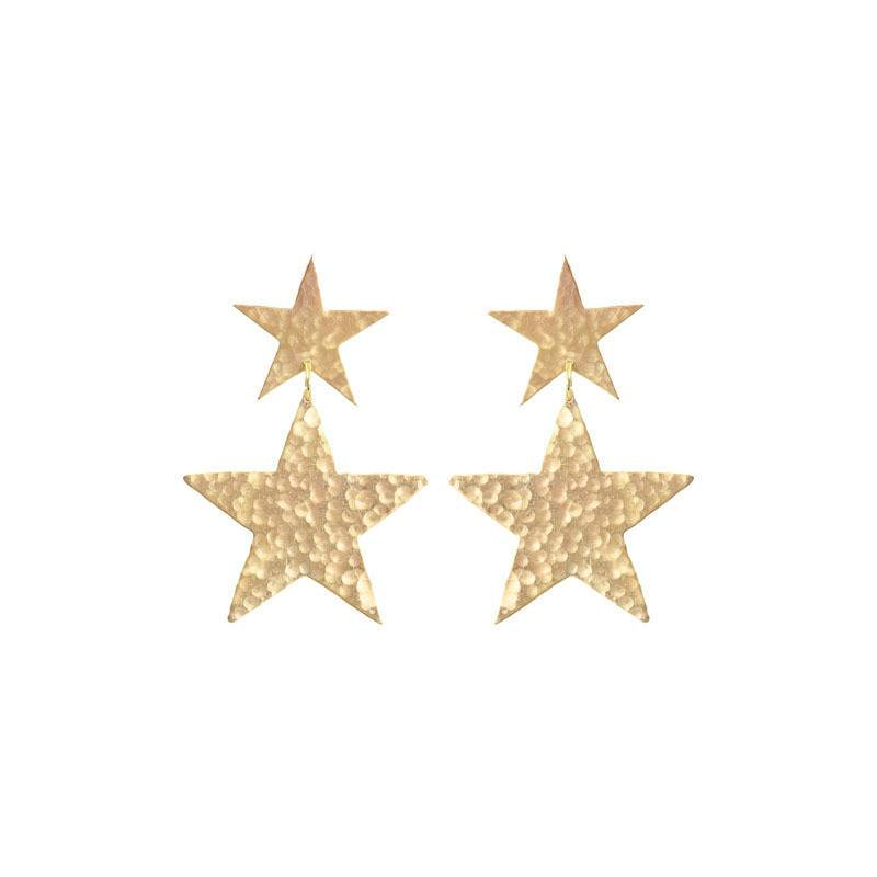 We Dream in Colour | shooting star earrings | gold