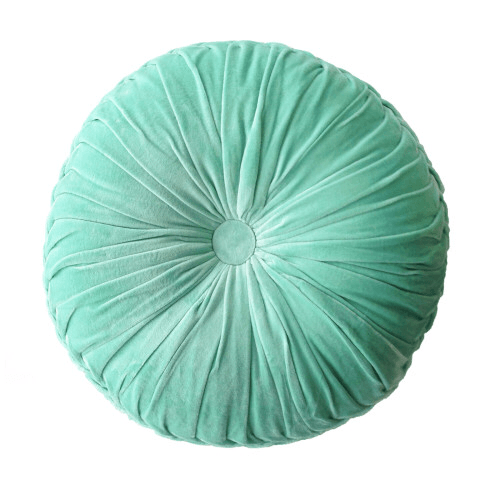 mondocherry homewares - FLT round pintuck cushion ocean
