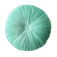 FLT round pintuck cushion ocean -  - mondocherry - home : style : design