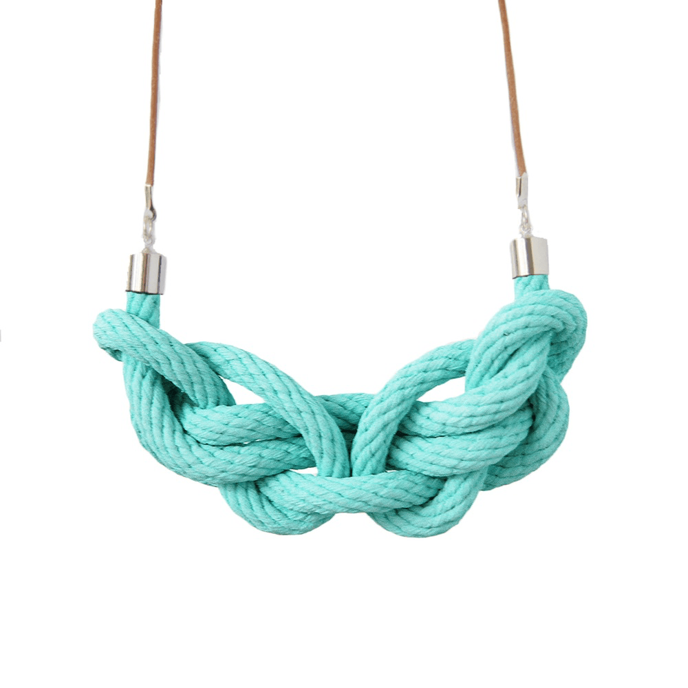 Crayon Chick paris knot necklace turquoise-Necklace-crayon chick-mondocherry
