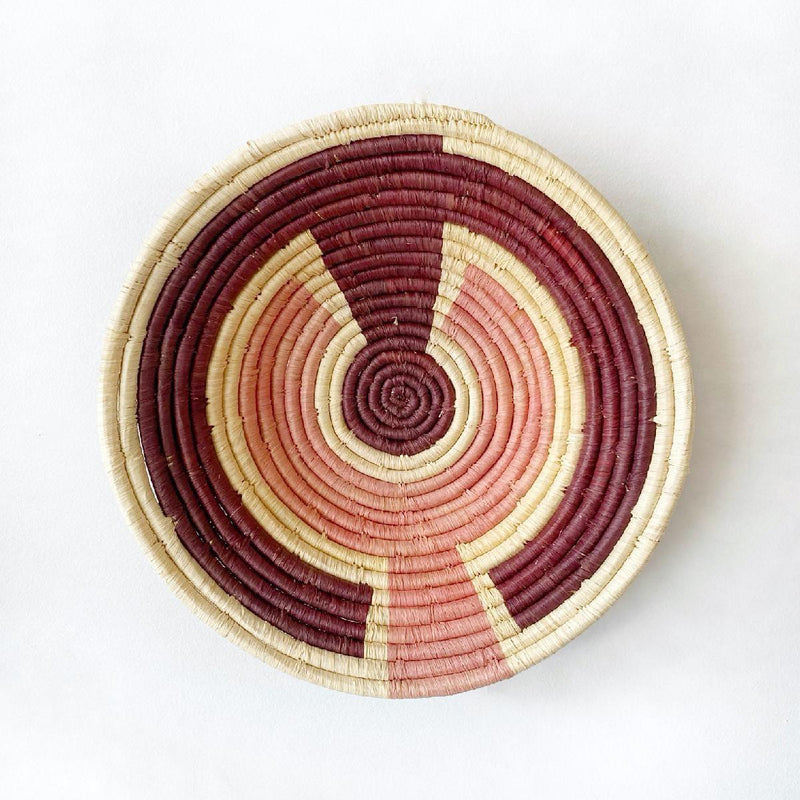 """Arc & Dot"" woven bowl 