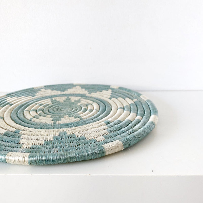 "African woven trivet ""Tumaini"" 