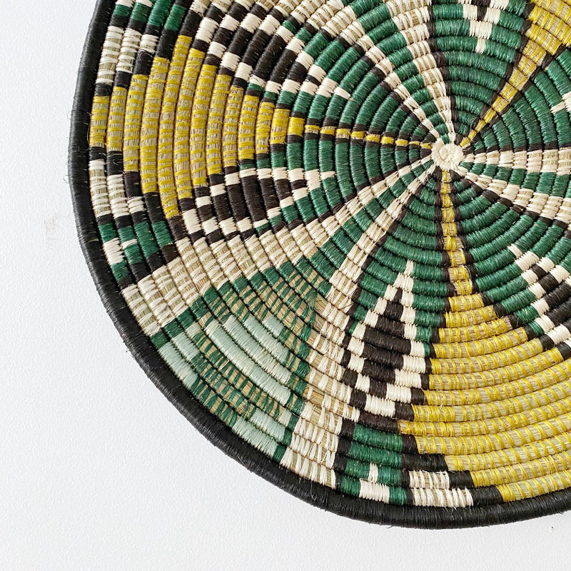 """Tilda"" African woven wall art plate 