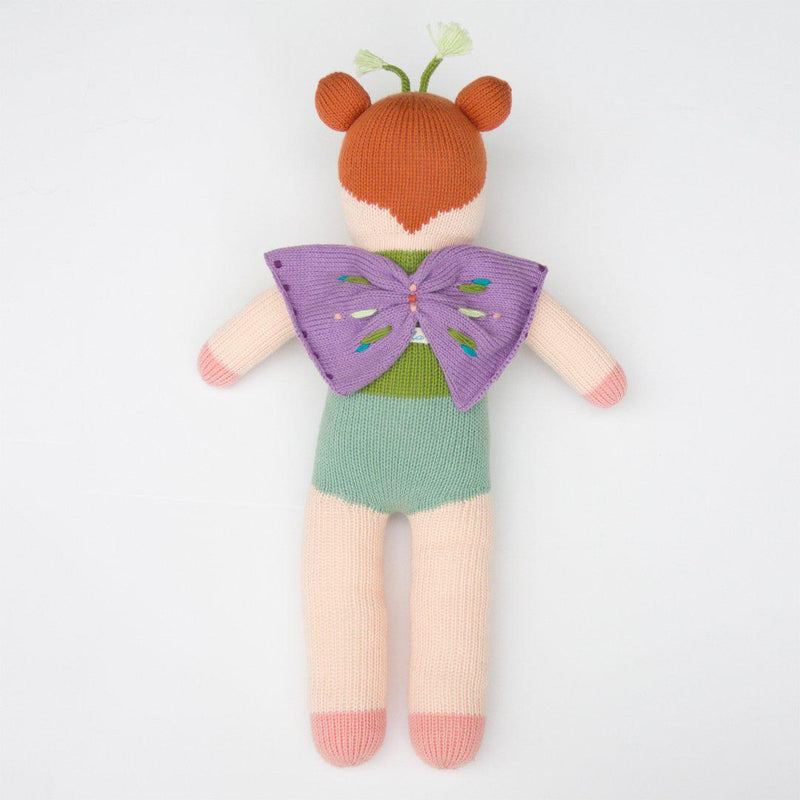 "Blabla | ""Aletta the Butterfly"" cotton doll - back"