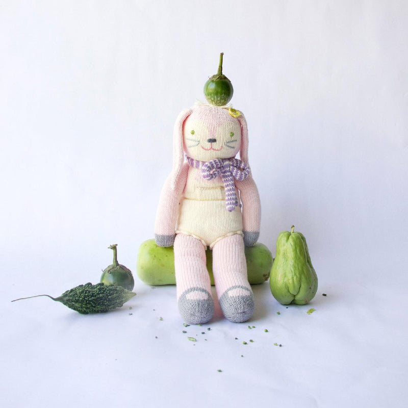 "Blabla | ""Fleur the Bunny"" kids cotton doll sitting"