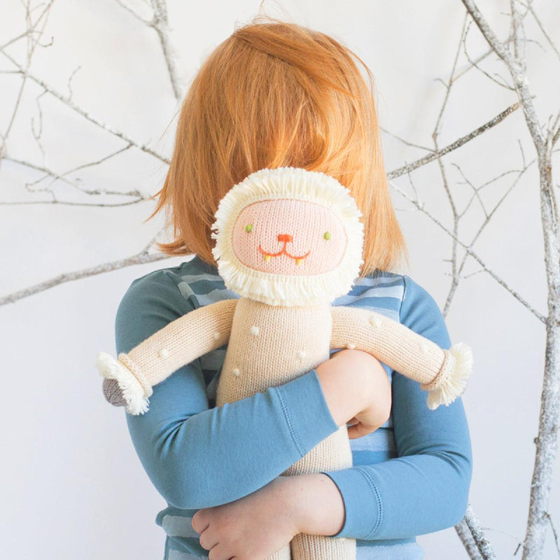 "Blabla | ""Flurry"" yeti, kids cotton doll cuddle"