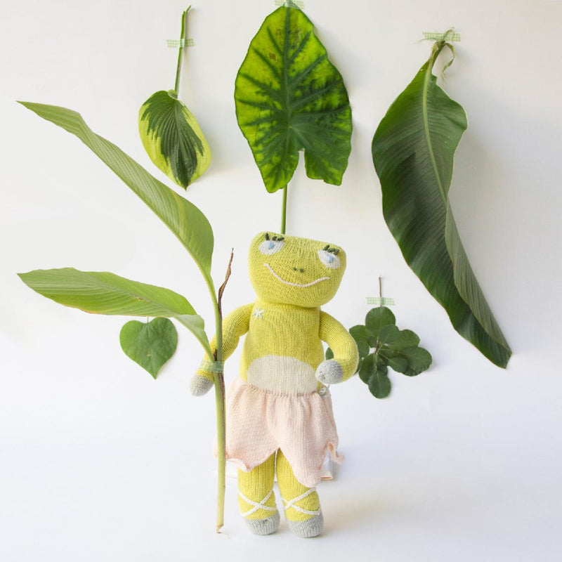 "Blabla | ""Lilipop"" frog, kids cotton doll trees"
