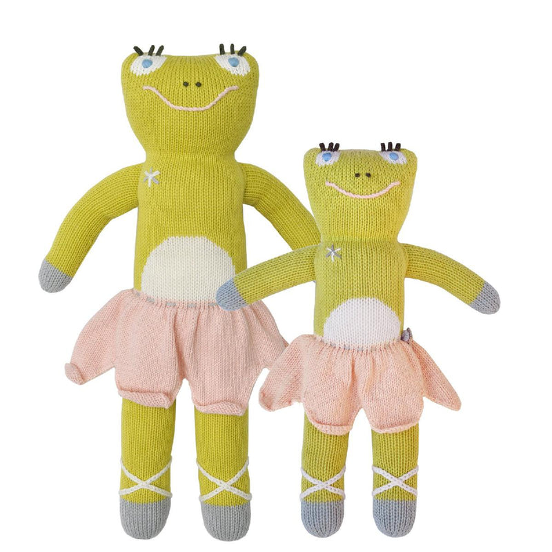 "Blabla | ""Lilipop"" frog, kids cotton doll"