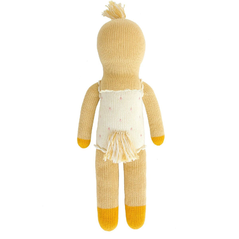 "Blabla | ""Lucille the Duck"" kids cotton doll - back"