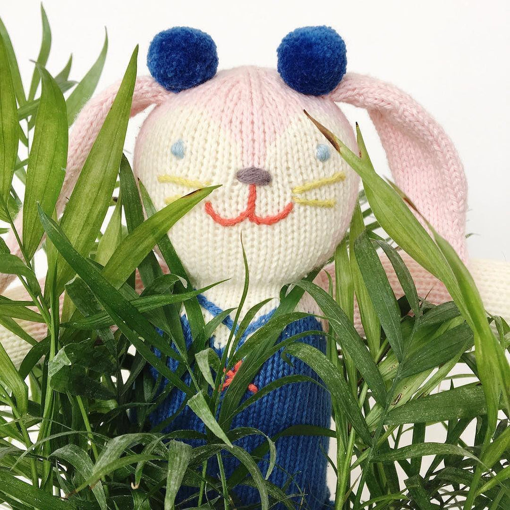 "Blabla | ""Mirabelle"" kids cotton doll - hiding"