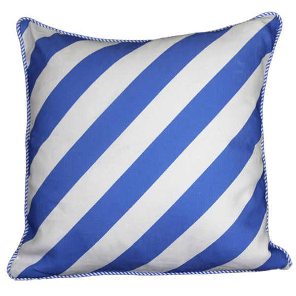 """serious stripes"" cushion in periwinkle blue - cushion - mondocherry - home : style : design"