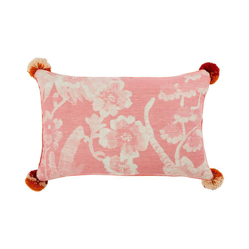 Bonnie and Neil linen cushion - cattleya - soft pink