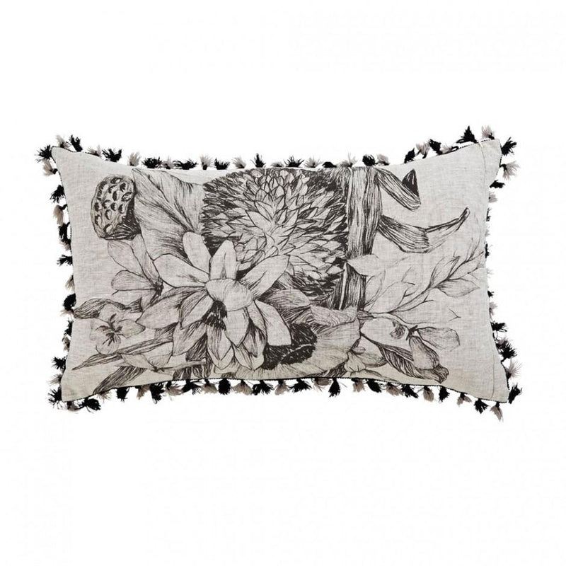 Bonnie and Neil cushion - lotus grey - back