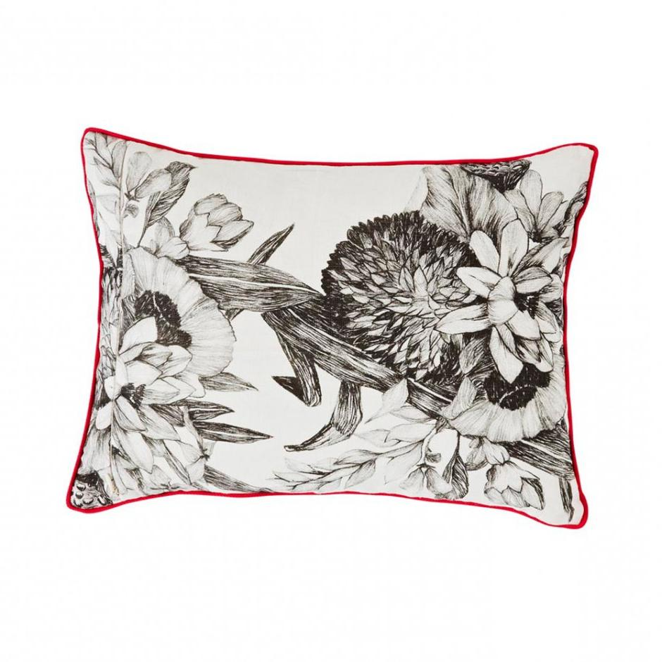 Bonnie and Neil cushions - lotus grey small - front