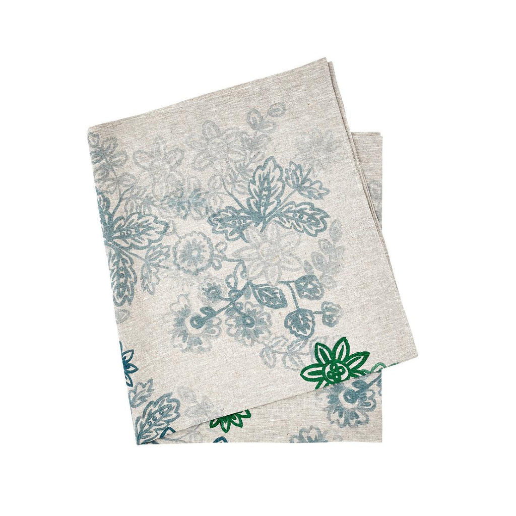 Bonnie and Neil | chintz tablecloth | soft blue
