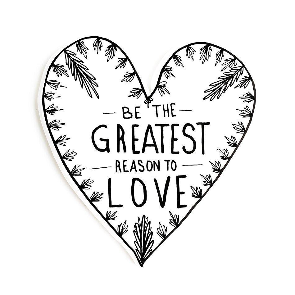 a boy named aaron greatest love ceramic heart wall decor