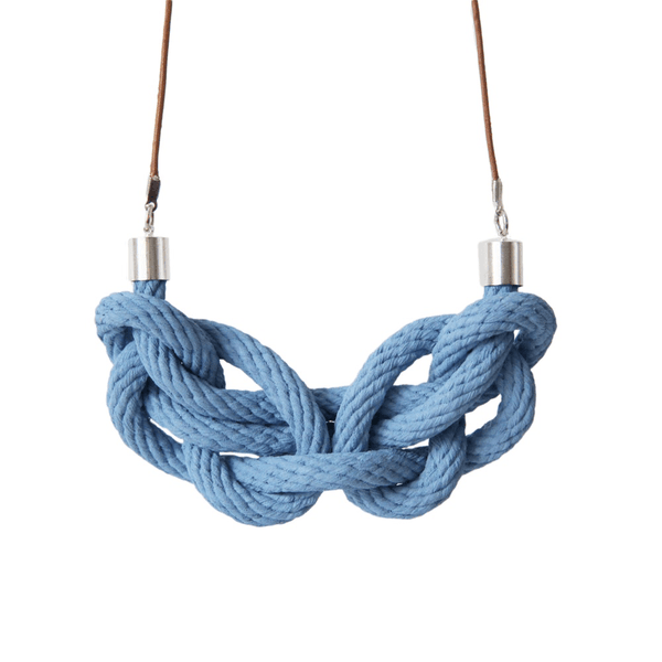 Crayon Chick paris knot necklace chambray