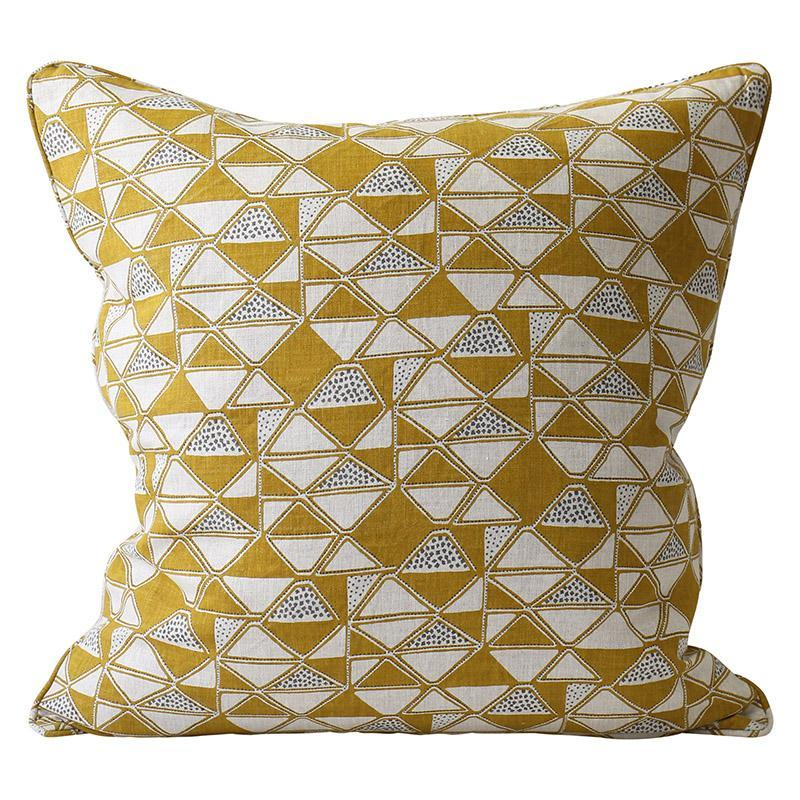 cushion - Walter G | cairo cushion | saffron - mondocherry
